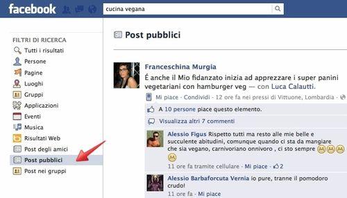 Facebook ricerca
