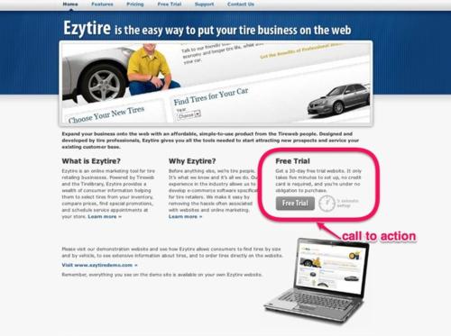 Ezytire home page