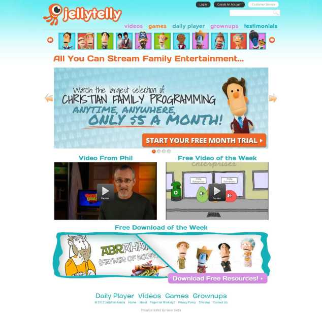 JellyTelly Home Page 1