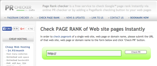 Google PageRank Check